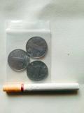 5*7厘米  3个一元硬币装.1包100个.